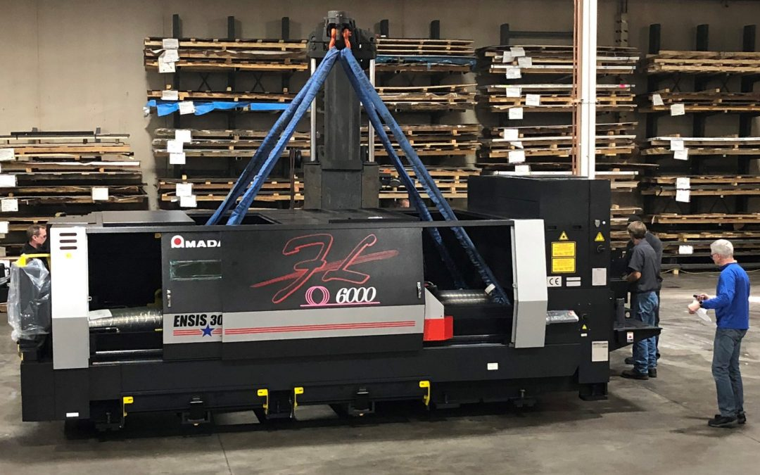 Rotation Engineering Installs new Amada 6000W fiber laser